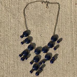 J.Crew navy blue bubble necklace